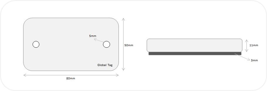 RFID T-Rexy size