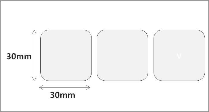 RFID HF (and NFC) UHF label 30×30 mm