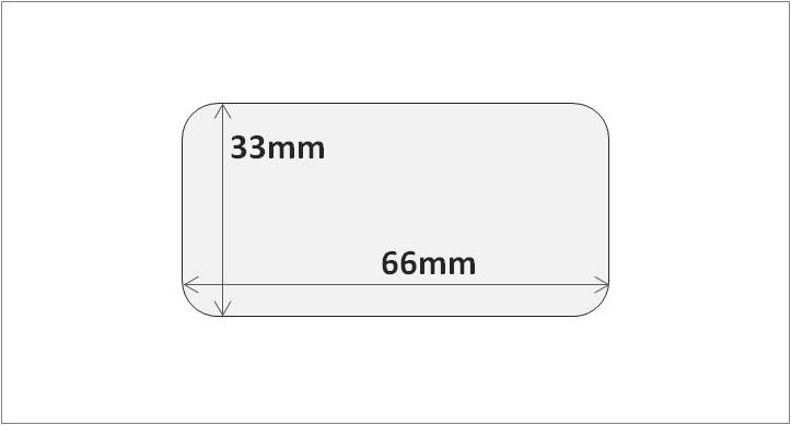 RFID HF and NFC label 33x66mm