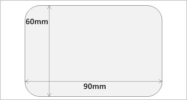 Etiqueta RFID HF y NFC 60×90 mm