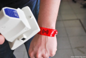 NFC Disposable Wristband HF single use wristband