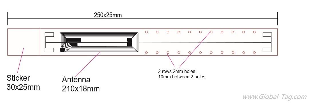 Braccialetto RFID HF Anti-Tamper