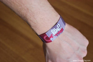 Bracciale RFID in tessuto