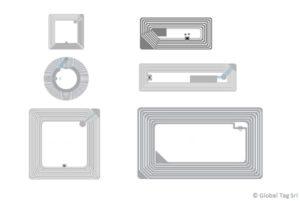 Etichette RFID HF 13,56 Mhz ISO15693 ISO14443 NFC Smart Labels